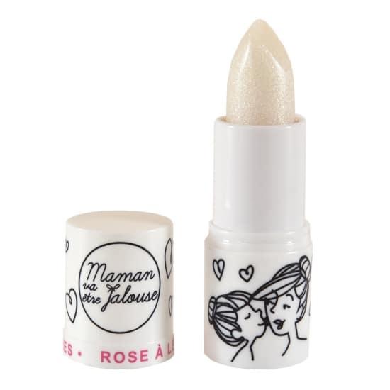 Rose à lèvres Féérique petite fille - Transparent pailleté