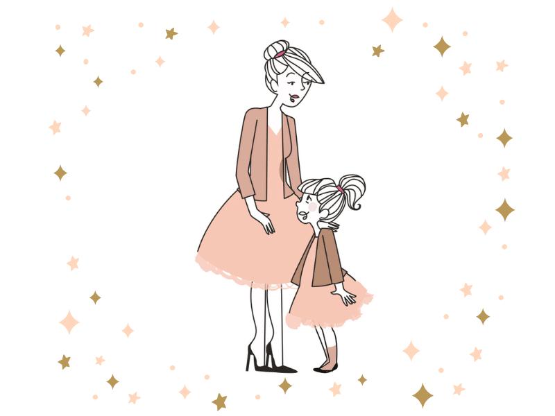 Petite robe mère fille et look assorti pour des fêtes complices!