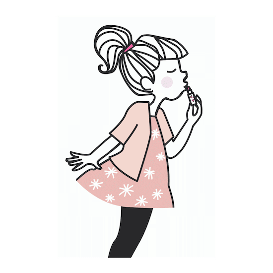 Cosmétiques français pour petites filles